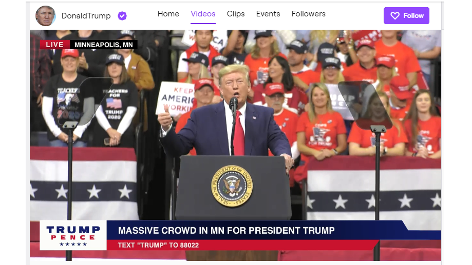 Trump joins Twitch to boost his 2020 election campaign