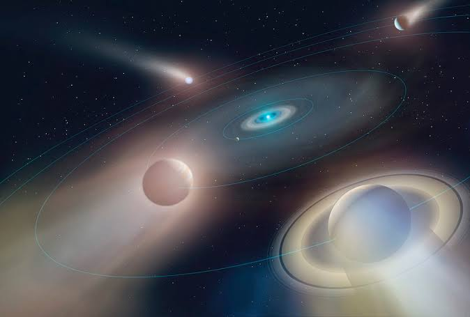 Ice Giant Planet Revolving Around The White Dwarf Star