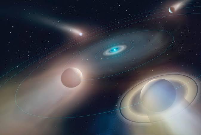 Ice Giant Planet Revolving Around The White Dwarf Star
